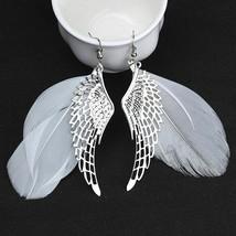Women Feather Wings Earrings Fashion Silver Long Tassel Earrings Jewelry... - $3.95