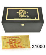 WR 1000pcs Chinese Dragon 1000 Yuan Gold Foil Banknotes Money Paper With... - $999.00