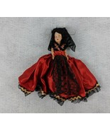"""Black Haired Red Dress 9"""" Tall With Opening Eyes Doll - $24.74"""