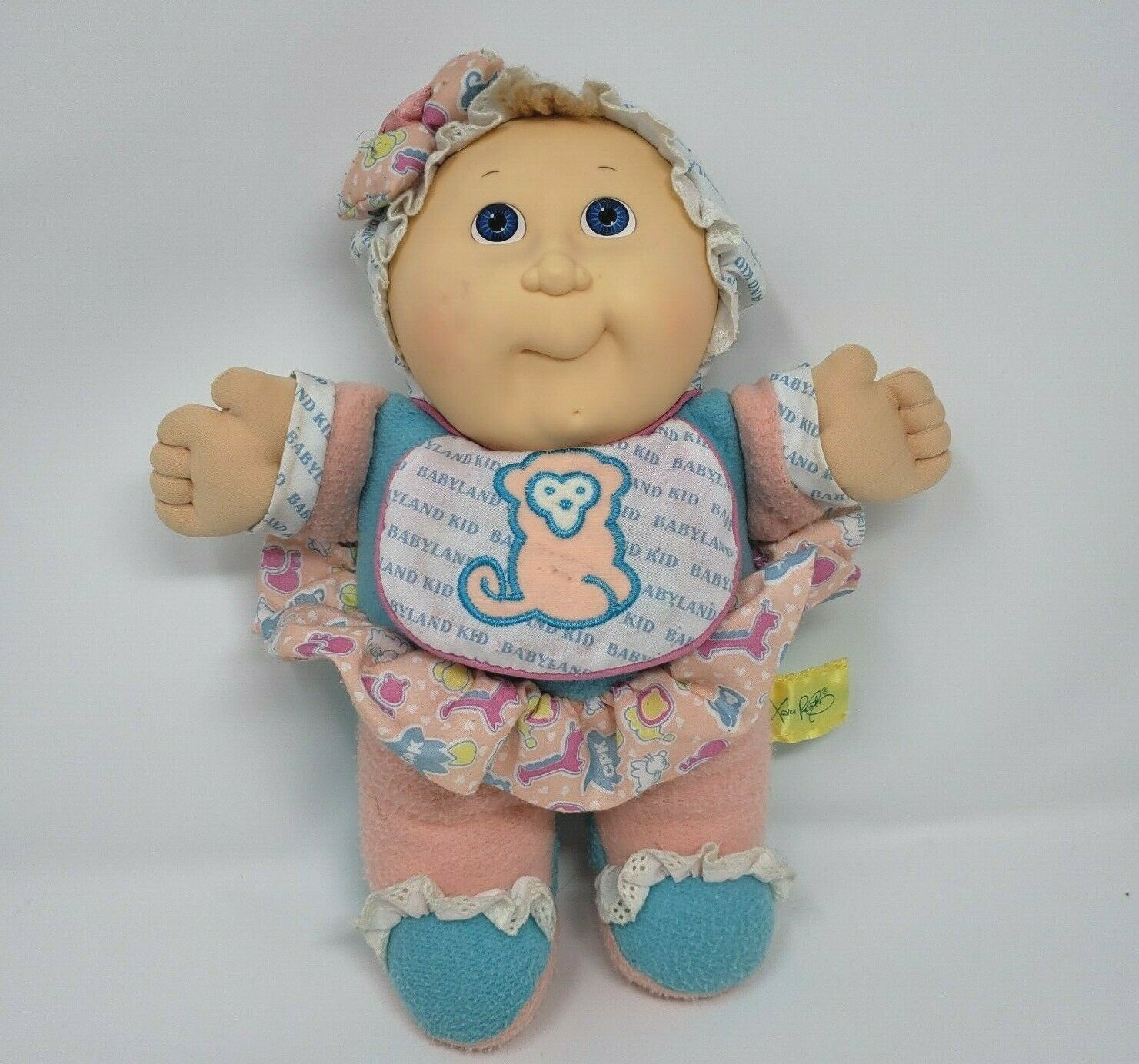 Primary image for VINTAGE 1988 CABBAGE PATCH KIDS BABYLAND STUFFED ANIMAL PLUSH TOY DOLL SQUEAKS