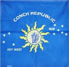 "Wholesale Lot 6 22""x22"" Key West Conch Republic Bandana - $14.88"