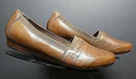 Women's Rockport Cobb Hill Collection Brown Leather Casual Loafer Sz. 9.... - $28.49