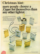 Vintage 1966 Magazine Ad Zippo Lighter People Love Zippos Because Zippos Work - $5.93