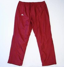 Adidas ClimaLite Dark Red Mesh Lined Track Pants Men's 2XS XXS NWT - $33.40