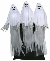 Haunting Ghost Trio Animated Prop Lifesize 6 ft Poseable Halloween Scary... - $199.99