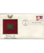CHRISTMAS 1991 Traditions of Christmas First Day Gold Stamp Issue Oct. 17, 1991  - $5.75