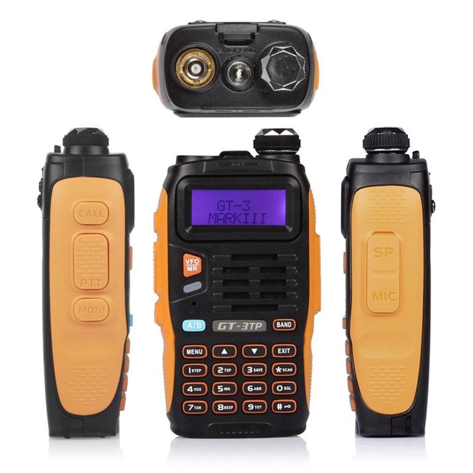 Handheld Police Radio Scanner 2-Way Triple Power Digital Transceiver HAM Antenna