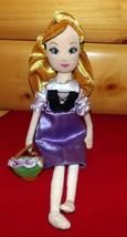 "Disney Sleeping Beauty Briar Rose Aurora Soft 16"" Doll Carries Flower Ba... - $8.59"