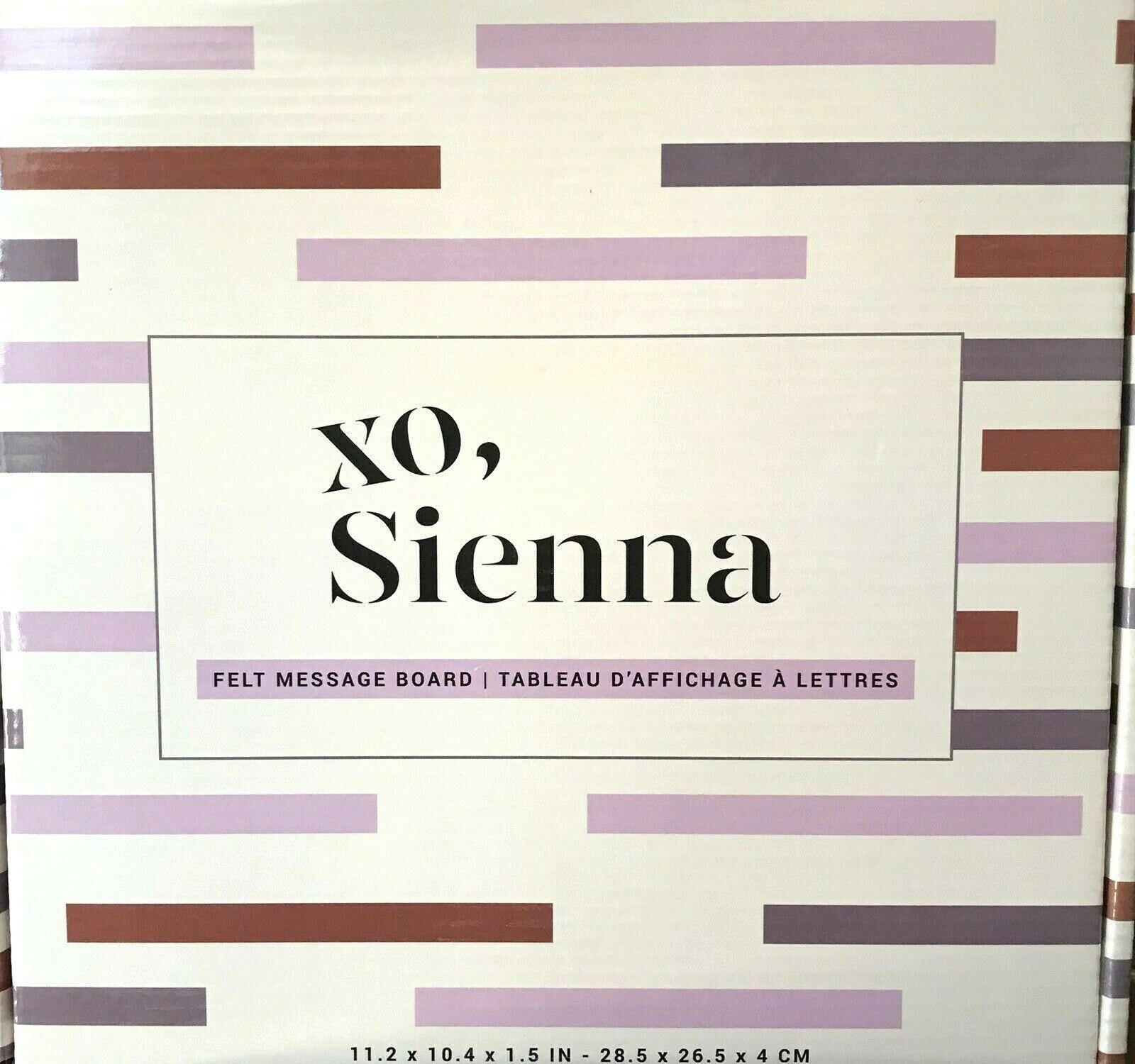 Sienna Felt Message Board Pine 10 x 10 Black Linen 189 White Letters Hanger image 2