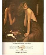 1980 General Electric GE Hair Dryer Retro Print Ad Vintage Advertisement... - $11.89