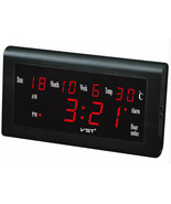 Wall Clock - VST-795W - LED All-Ages Calendar/Date/Thermometer and Hygr... - $59.35