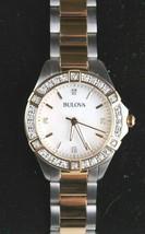 Bulova 22 Diamond Two-Tone Stainless Steel MOP Dial Ladies Watch 98R236 image 2