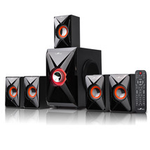 beFree Sound 5.1 Channel Bluetooth Surround Sound Speaker System in Orange - $104.69