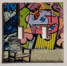 Street Art Wall Painting Chair Light Switch Outlet Wall Cover Plate Home decor image 3