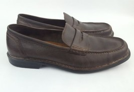 Rockport Adiprene by Adidas 11M Brown Leather Moc Toe Penny Loafers Z - $28.04