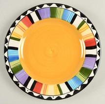 "Gibson Designs Fandango Multi-color Salad/Dessert Plate 8""  Made in the ... - $10.99"