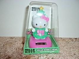 HELLO KITTY Sanrio Christmas Holiday Solar Bobble Head Figure Bobblehead New - $10.99