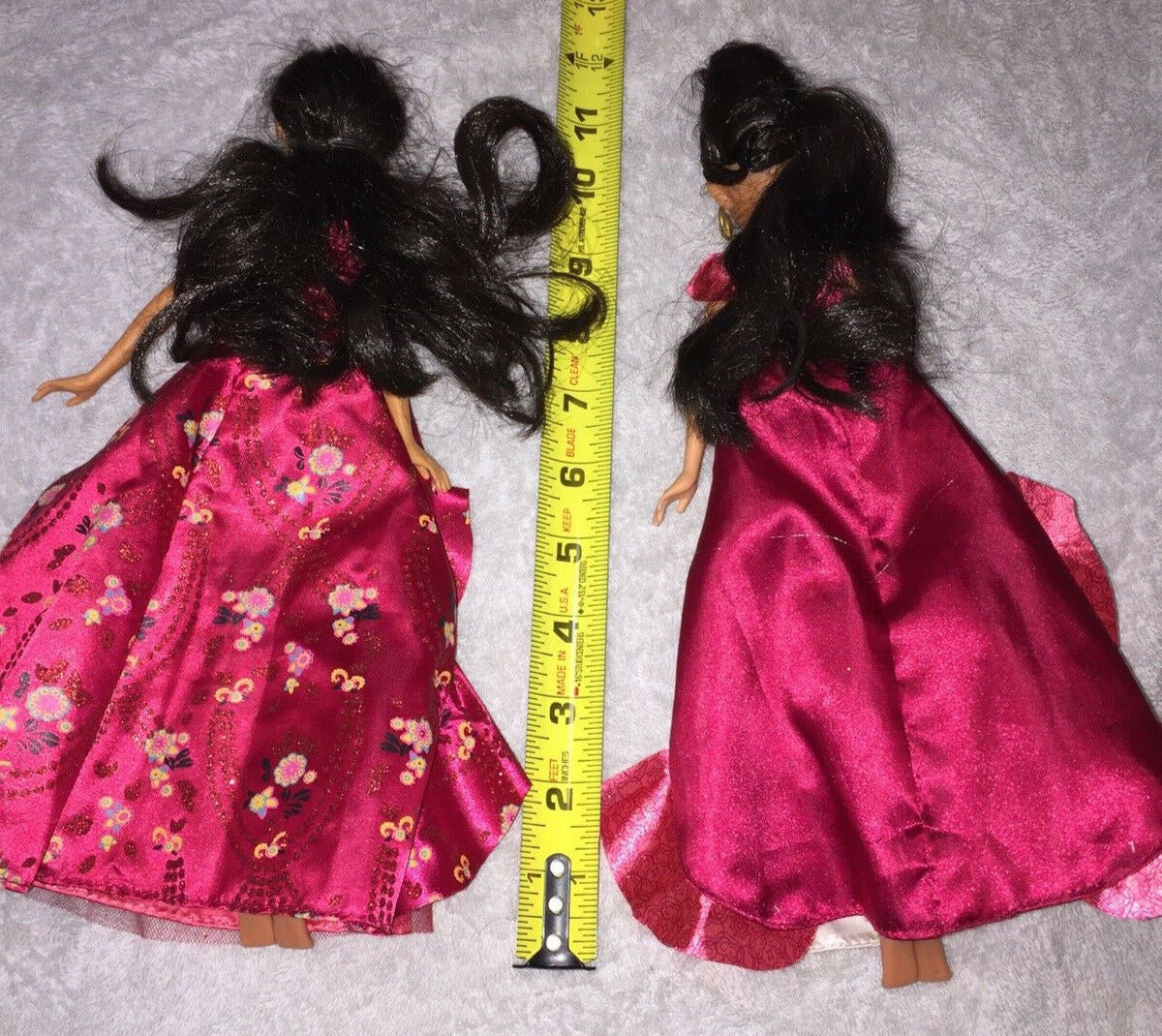2 Versions Hasbro Disney Princess Avalor Elena Dolls Dressed Used Good Condition