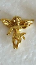"TINY 5/8"" VINTAGE CHERUB ANGEL LAPEL PIN, USA, GOLDTONE, NO DEFECTS, UNS... - $4.94"