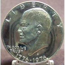 1976-S Proof Eisenhower Dollar PF65 Type 1 #0318 - $9.59