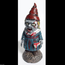 Bloody Zombie GNOME-BIE-ETT GIRL Walking Dead Horror Prop Garden Yard De... - $34.62