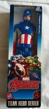 Marvel Captain America Titan Hero Series Avengers 12-inch Action Figure ... - $10.97