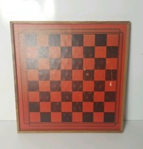 Vintage Wooden Reversible Chinese Checkers & Checkers Board  - $37.39
