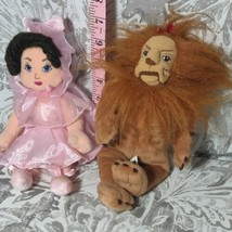 Warner Bros WIZARD of OZ Plush Bean Bag Beanie Dolls lion lollipop princess - $14.85