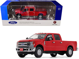 Ford F-250 Crew Cab Super Duty Pickup Truck Race Red 1/50 Diecast Model Car by F - $66.48