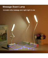Foldable Dimmable LED Desk Lamp Rechargeable With Message Board Touch Sw... - $39.95