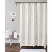 Better Homes and Gardens Metallic Chevron Fabric Shower Curtain Set, 13 ... - $27.12