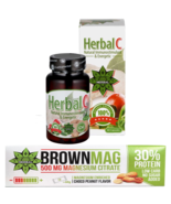Protein Bar Peanut Magnesium Citrate Muscle Recovery + Herbal C Vitamin ... - $25.73