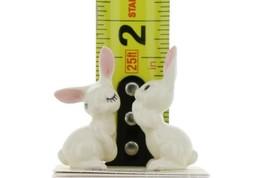 Hagen Renaker Miniature Rabbit Love Bunnies Ceramic Figurine Set image 2