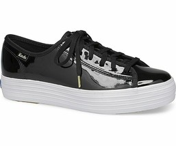 Keds Womens Triple Kick Patent Sneakers Black Size 9.5 - $56.00