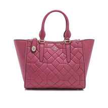 Coach 37486 Canyon Quilt Dahlia Smooth Leather FULL SIZE Crosby Carryall... - $294.36