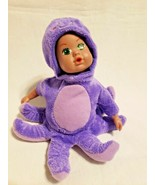 Sea World Octopus Baby Doll Plush Soft Toy Plastic Head Purple Costume  - $19.78