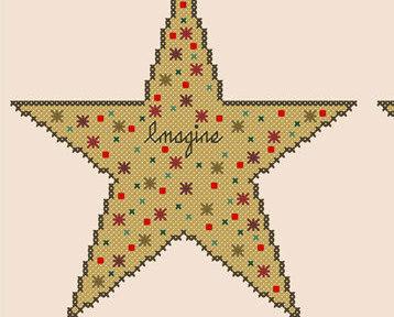 Three Wishes imagine dream believe PDF cross stitch chart John Shirley new desig