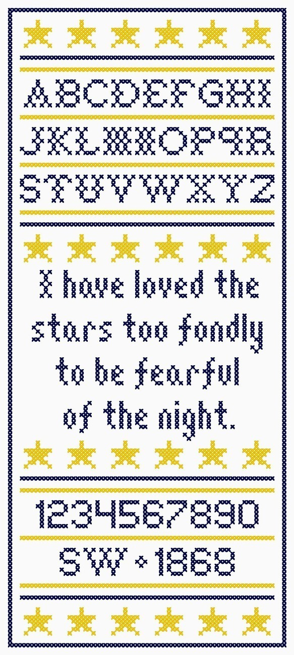 I have loved the stars sampler
