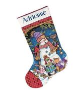 Cute Carolers Stocking Kit counted cross stitch... - $19.80