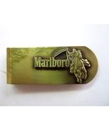 Vintage Brass Marlboro Man on Horse Cigarette Premium Money Clip - $7.99