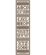 English Royals Sampler Bellpull PDF cross stitch chart John Shirley new ... - $7.00