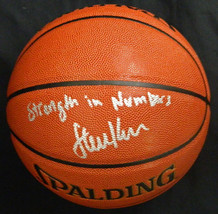 "Steve Kerr Signed Spalding NBA I/O Basketball w/ ""Strength In Numbers"" - $210.00"