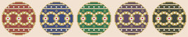 Royal Christmas ornament PDF cross stitch chart John Shirley new designer - $5.00