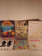 Lot Of 6 Coloring Books For Adult/Young Adult Inspired Color Nature Calm... - $8.81