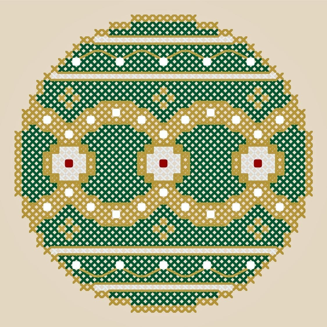 Royal Christmas ornament PDF cross stitch chart John Shirley new designer