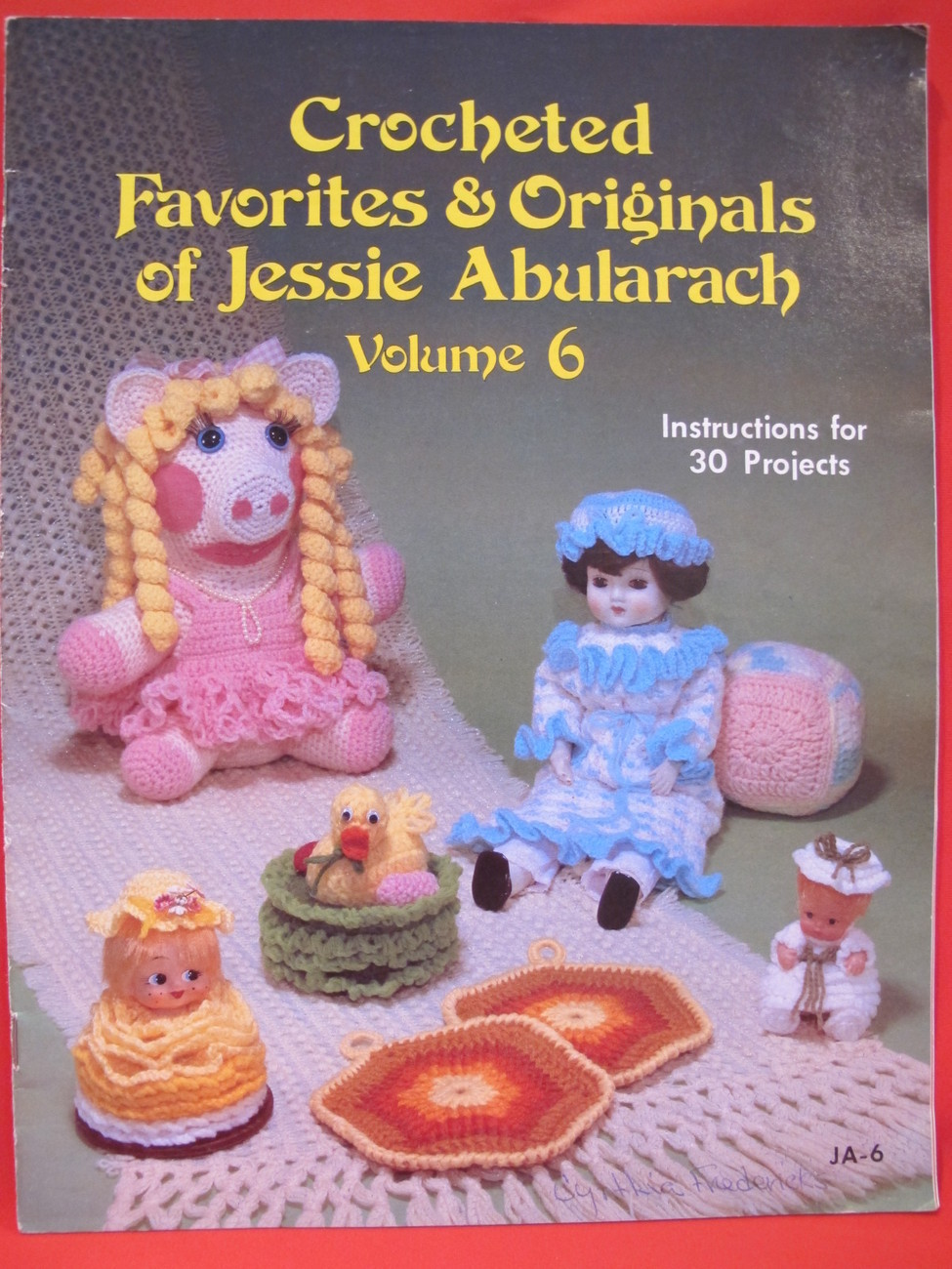Vintage Crochet Crocheting Patterns Toys Dolls Christmas Clown Pillow Flower etc - $9.95