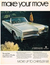 Vintage 1968 Magazine Ad Chrysler Make Your Move Move Up To Chrysler '68 - $5.93