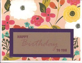 Handmade Happy Birthday Greeting Card - $4.00