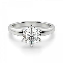 1 Ct Round Cut Solitaire Engagement Wedding Promise Ring Solid 950 Platinum - $1,873.08