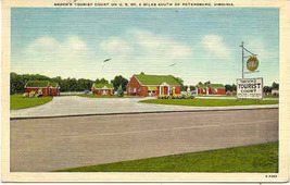 Brooks Tourist Court Route 301 Petersburg Virginia vintage 1948 Post Card - $5.00